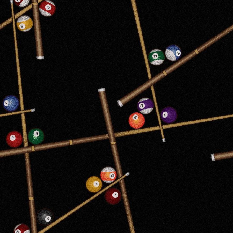 Joy Carpets Games People Play Black Cut and Loop Indoor Carpet