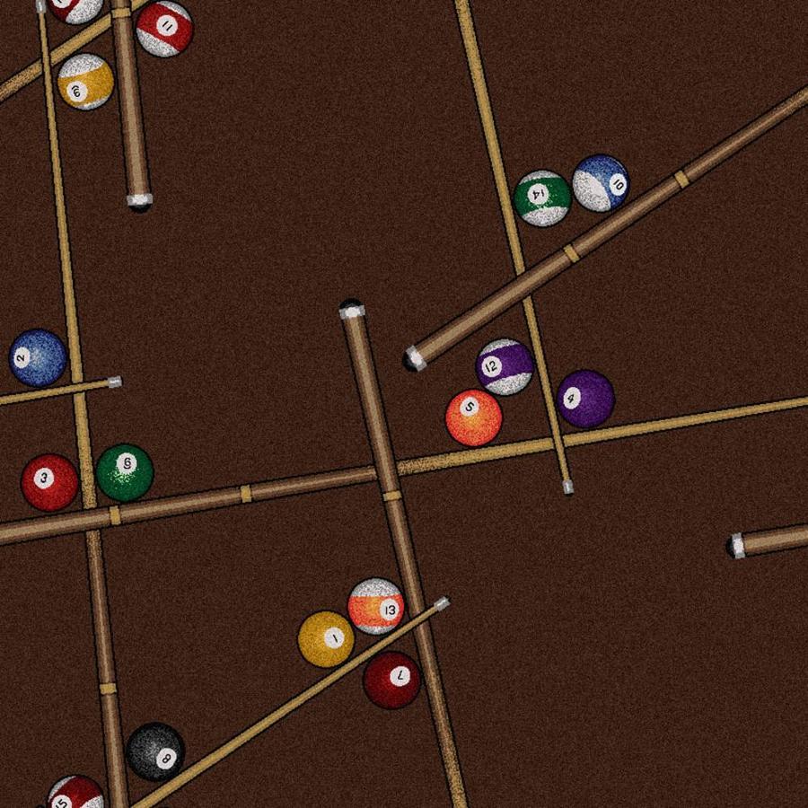 Joy Carpets Games People Play Chocolate Cut and Loop Indoor Carpet