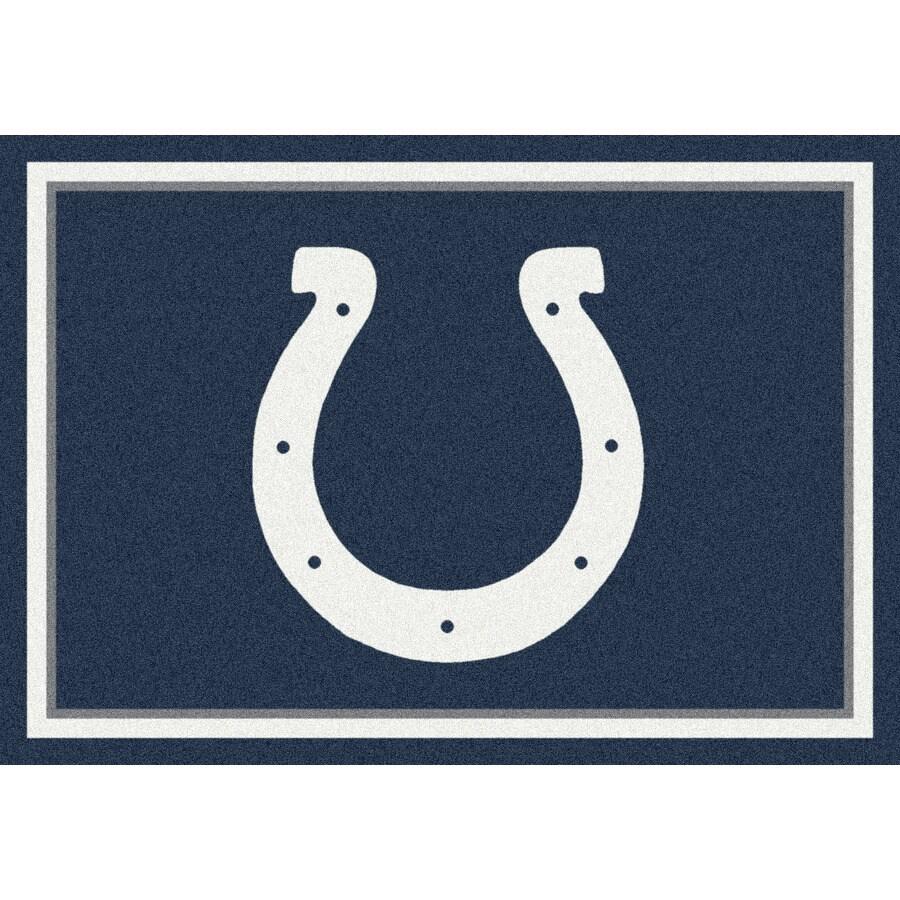Milliken NFL Spirit Multicolor Rectangular Indoor Tufted Sports Area Rug (Common: 8 x 10; Actual: 92-in W x 129-in L)