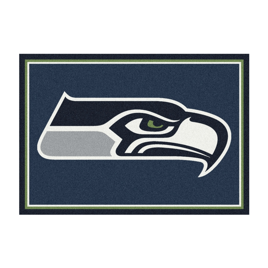 Milliken NFL Spirit Blue Rectangular Indoor Tufted Sports Area Rug (Common: 4 x 6; Actual: 46-in W x 64-in L)