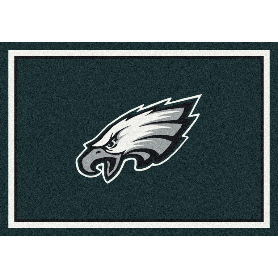Milliken NFL Spirit Multicolor Rectangular Indoor Tufted Sports Area Rug (Common: 5 x 8; Actual: 64-in W x 92-in L)