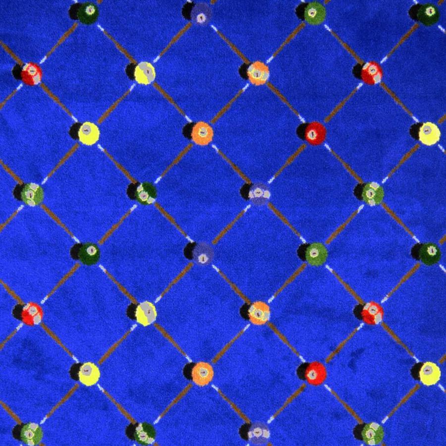 Joy Carpets Games People Play Blue Cut and Loop Indoor Carpet