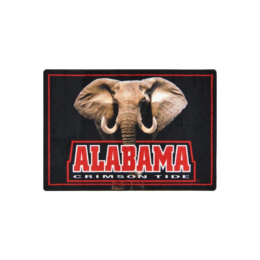 Joy Carpets 2-ft 8-in x 3-ft 10-in Rectangular NCAA Alabama Crimson Tide Accent Rug