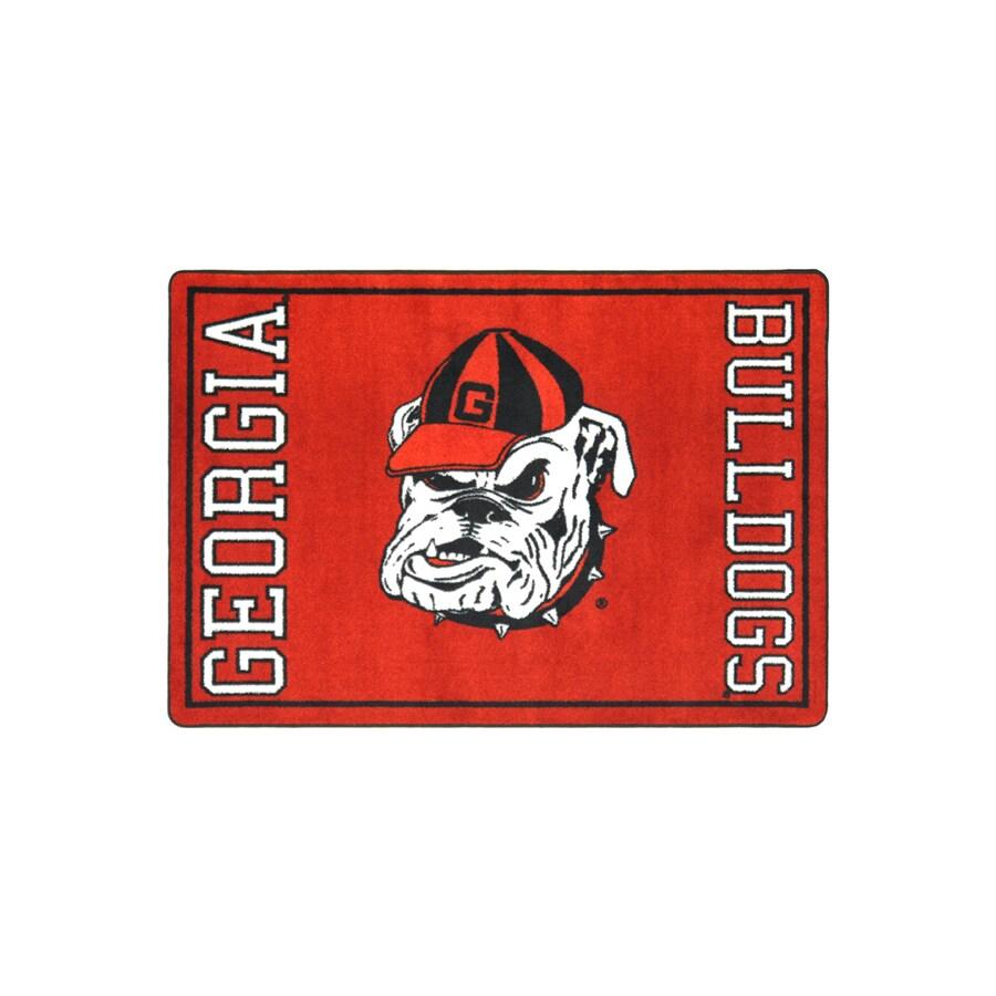 Joy Carpets 2-ft 8-in x 3-ft 10-in Rectangular NCAA Georgia Bulldogs Accent Rug