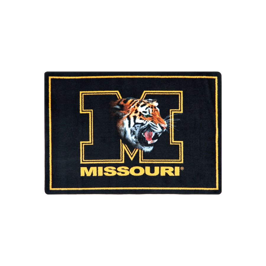 Joy Carpets Joy Carpets College Mascot Rugs 46-in x 64-in Rectangular Multicolor Sports Area Rug