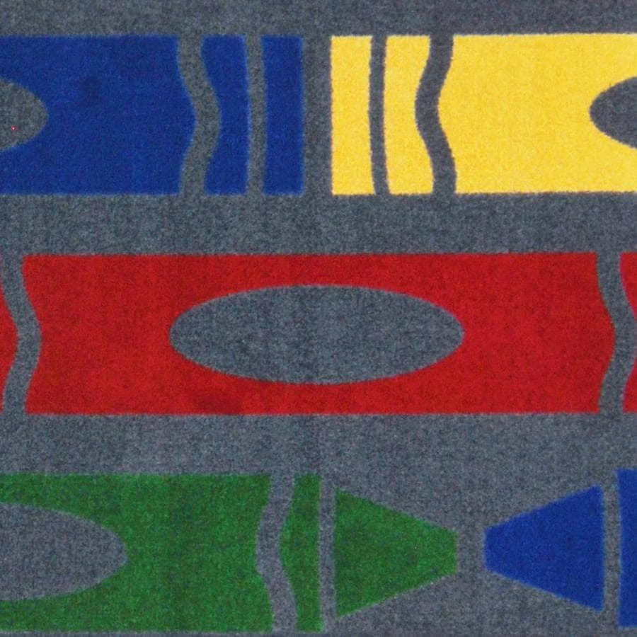 Joy Carpets Playful Patterns Rainbow Cut and Loop Indoor Carpet