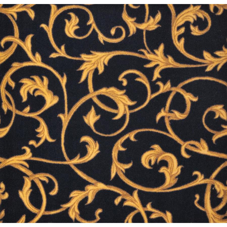 Joy Carpets Any Day Matinee Black Cut and Loop Indoor Carpet