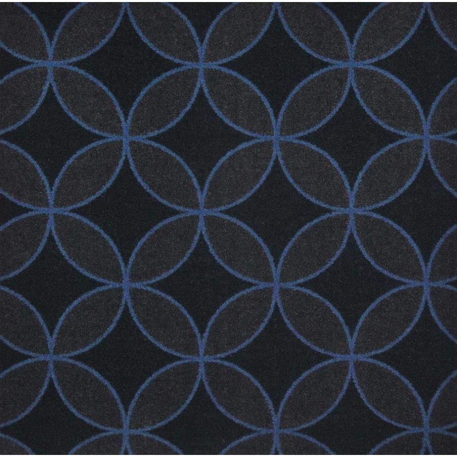 Joy Carpets Kaleidoscope Blue Cut and Loop Indoor Carpet