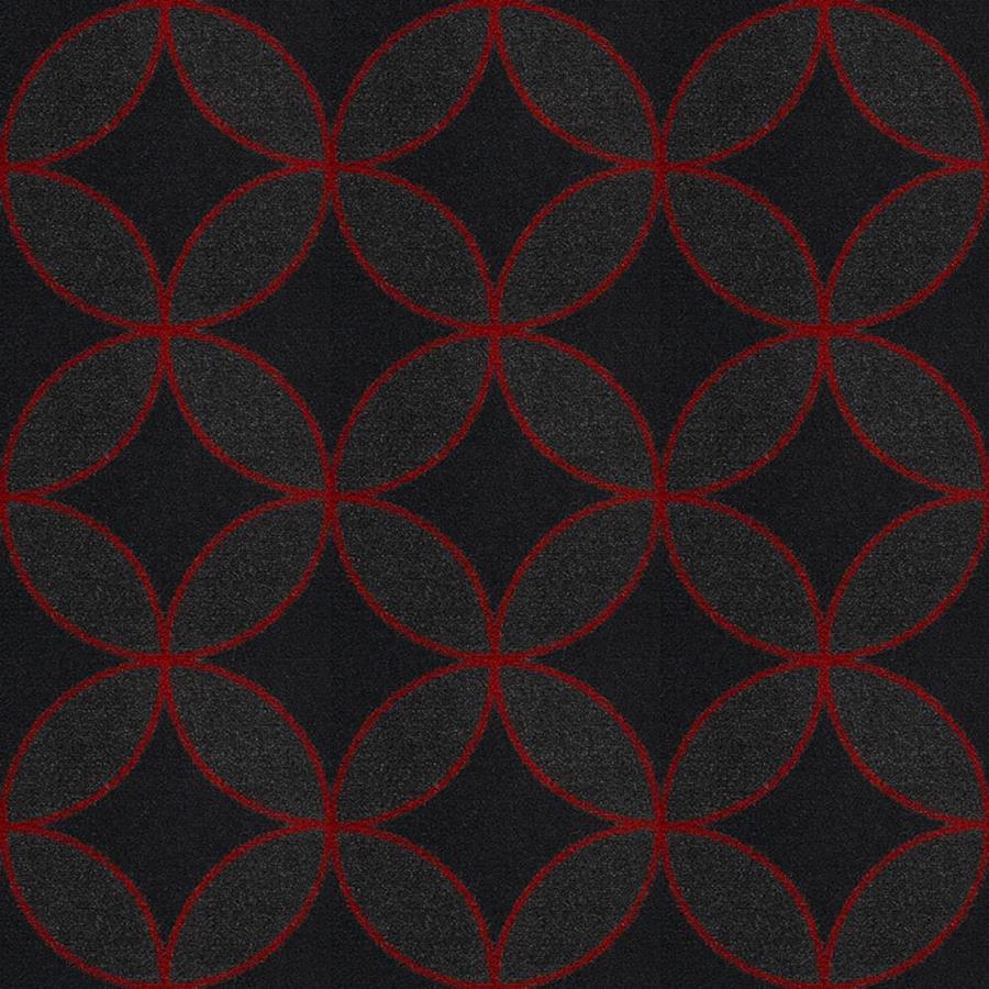 Joy Carpets Kaleidoscope Red Cut and Loop Indoor Carpet