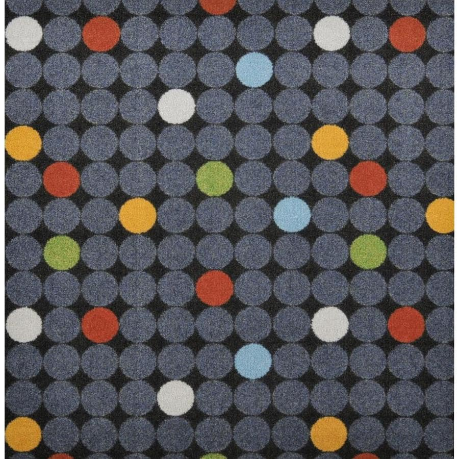 Joy Carpets Playful Patterns Gray Cut and Loop Indoor Carpet