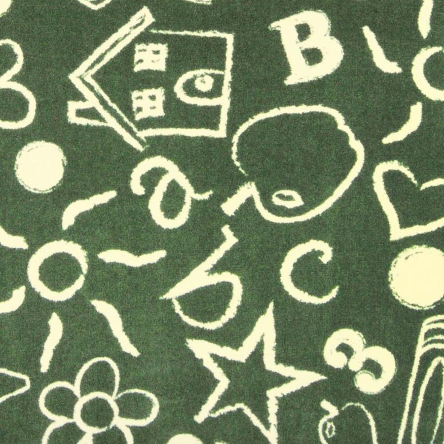 Joy Carpets Playful Patterns Green Cut and Loop Indoor Carpet