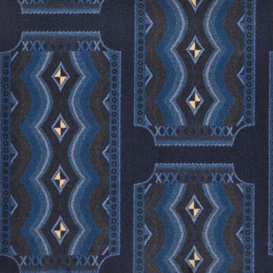 Joy Carpets Any Day Matinee Blue Cut and Loop Indoor Carpet