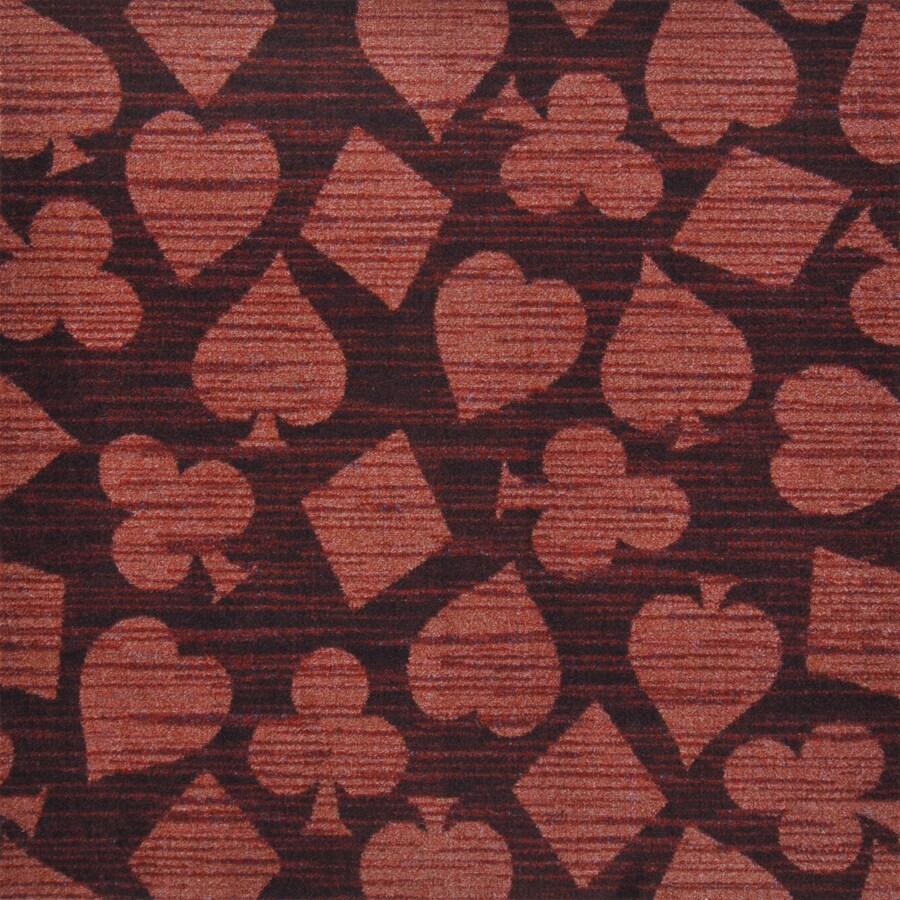 Joy Carpets Games People Play Burgundy Cut and Loop Indoor Carpet