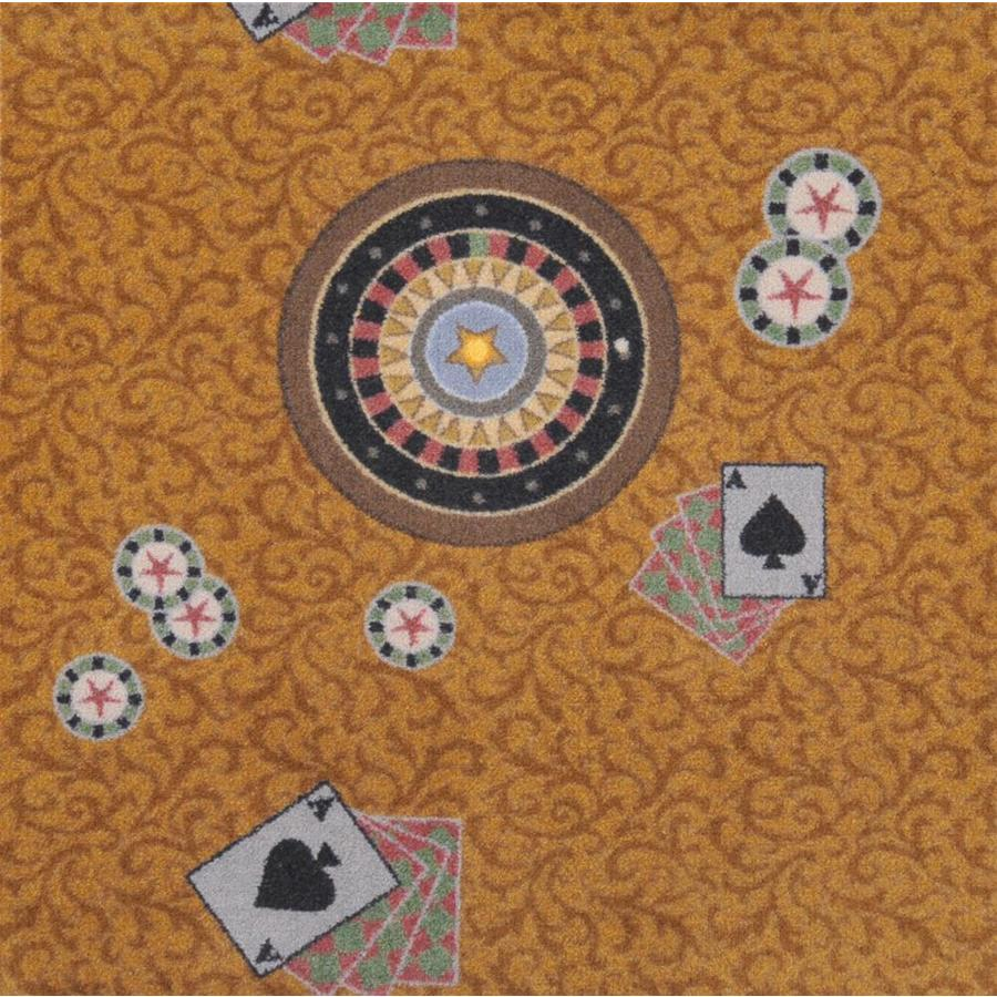 Joy Carpets Games People Play Gold Cut and Loop Indoor Carpet