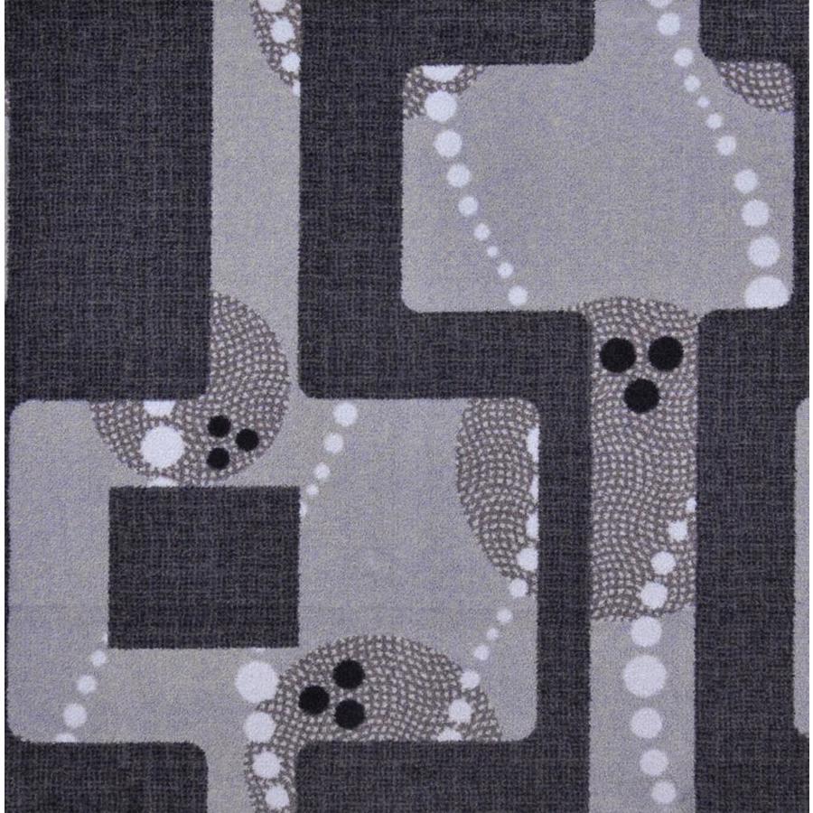 Joy Carpets Sports Fan Gray Cut and Loop Indoor Carpet