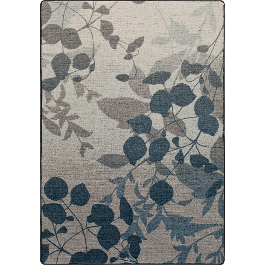 Milliken Mix and Mingle Blue Rectangular Indoor Tufted Area Rug (Common: 7 x 10; Actual: 92-in W x 129-in L)