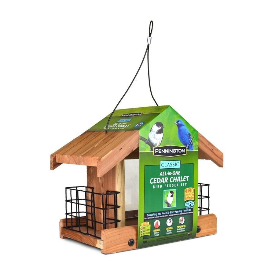 Pennington Cedar Hopper Bird Feeder (Seed Included)