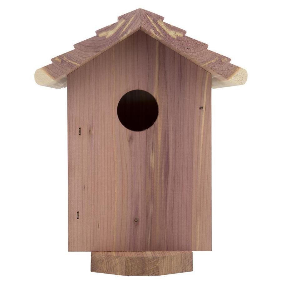 Garden Treasures 6.5-in W x 7.5-in H x 6.75-in D Red Cedar Bird House