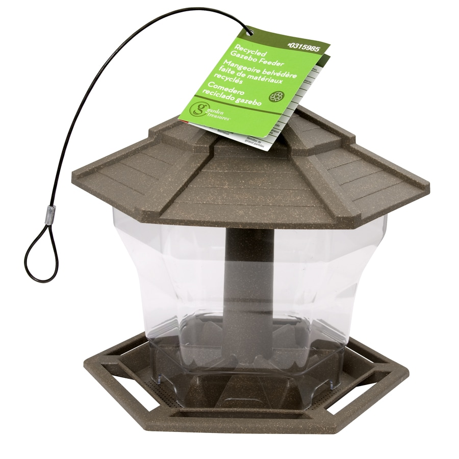 CedarWorks Plastic Hopper Bird Feeder