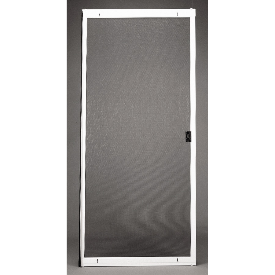 Shop ritescreen white steel sliding screen door common for Sliding patio screen door