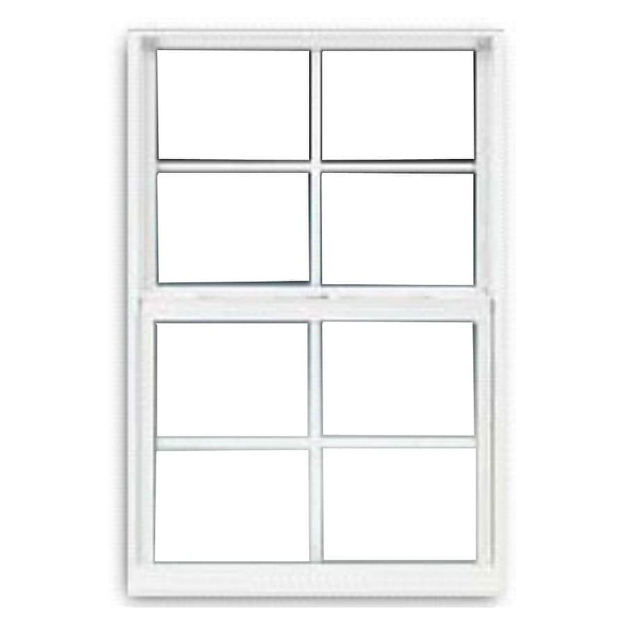 BetterBilt 3000TX Aluminum Double Pane Single Strength Single Hung Window (Rough Opening: 24-in x 60-in; Actual: 23.375-in x 59.5625-in)