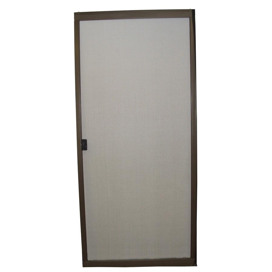 RITESCREEN Bronze Steel Sliding Screen Door (Common: 30-in x 80-in; Actual: 30-in x 80.125-in)