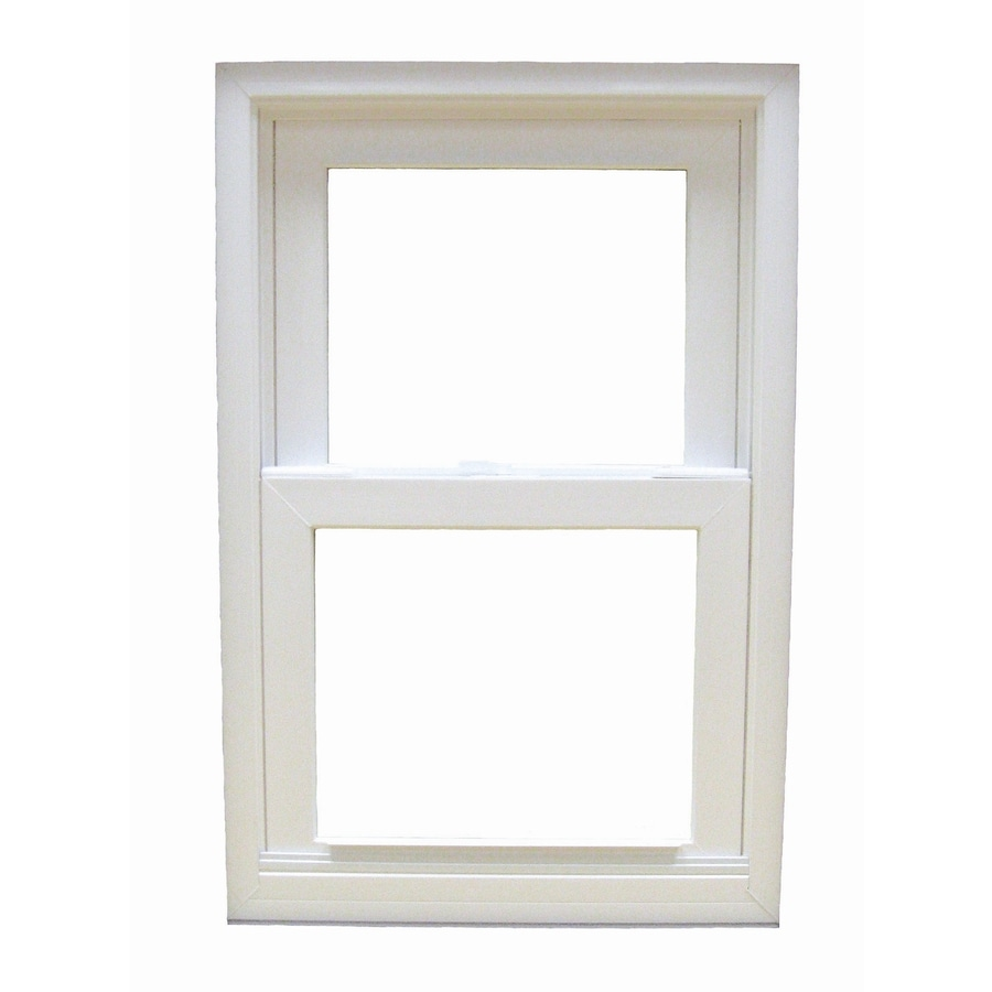 BetterBilt 185 Series Aluminum Double Pane Impact Single Hung Window (Rough Opening: 24-in x 48-in; Actual: 23.375-in x 47.625-in)