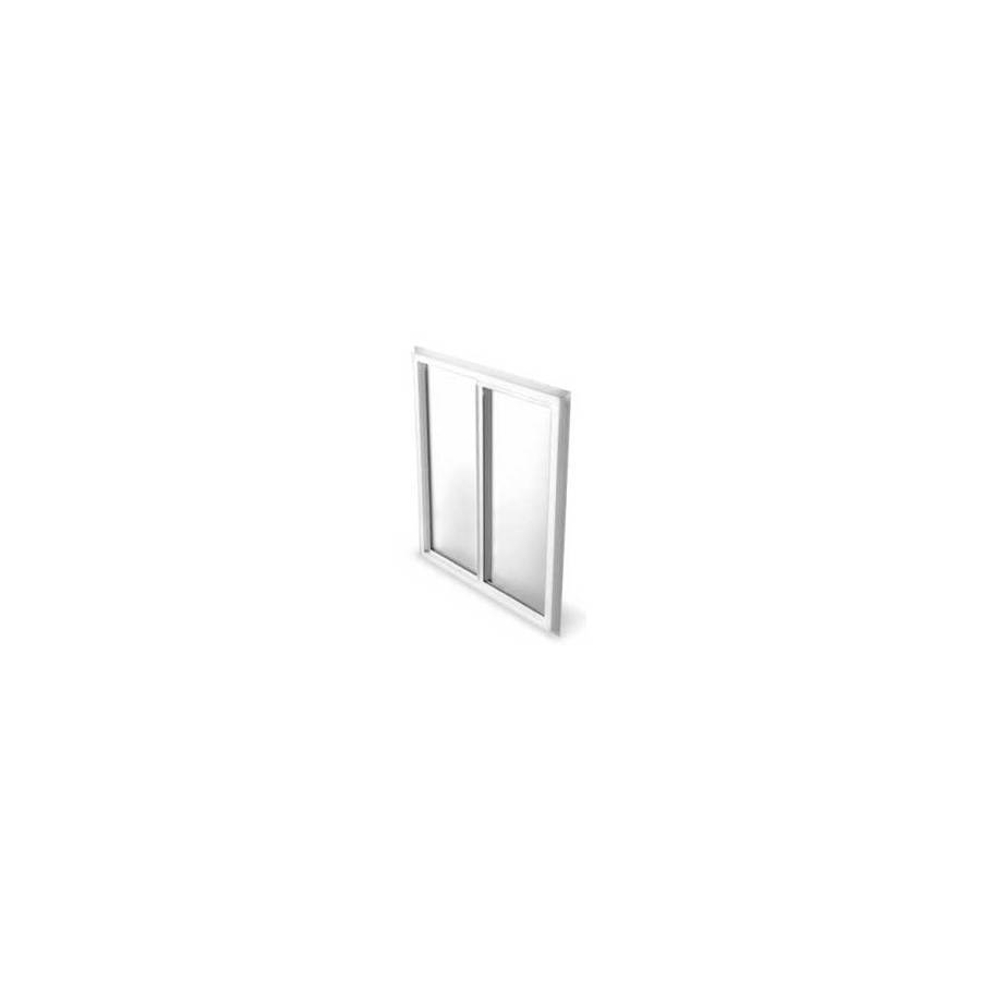 BetterBilt 5800 Series Left-Operable Vinyl Double Pane Single Strength New Construction Sliding Window (Rough Opening: 60-in x 60-in; Actual: 59.5-in x 59.5-in)