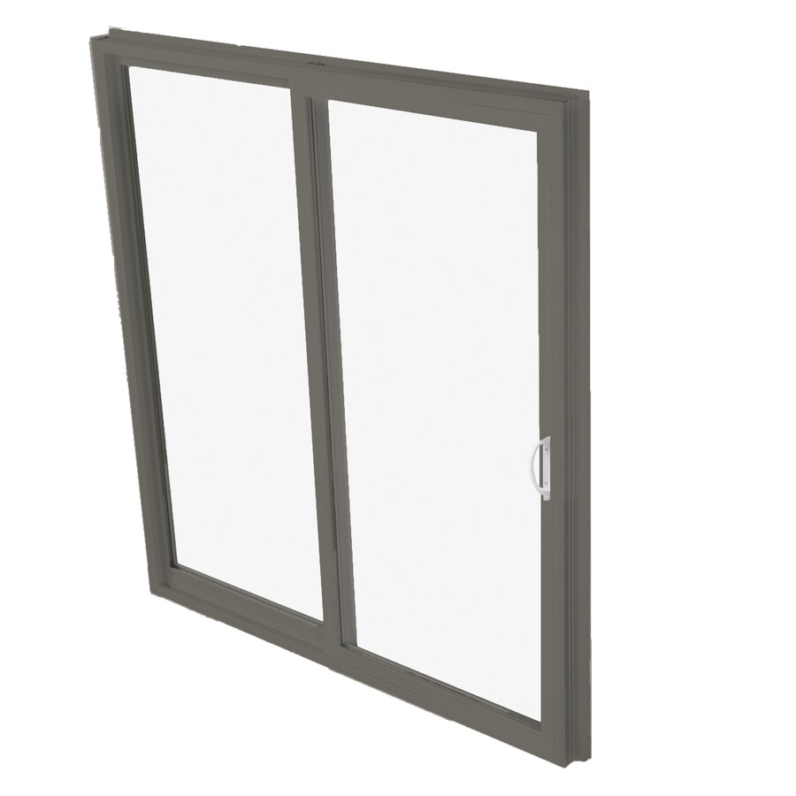 Shop betterbilt 570 series 71 5 in clear glass bronze for Aluminum sliding screen door
