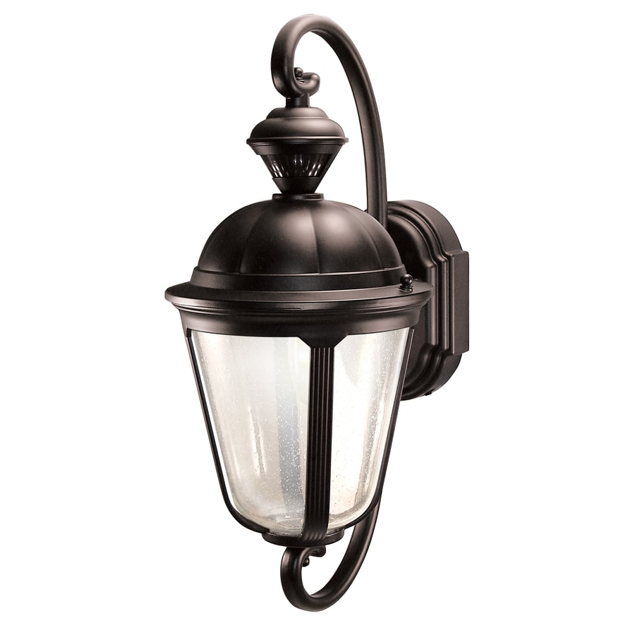 Outside Wall Lights With Motion Sensor : Shop Heath Zenith Corinthian 19-in H Oil Rubbed Bronze Motion Activated Outdoor Wall Light at ...