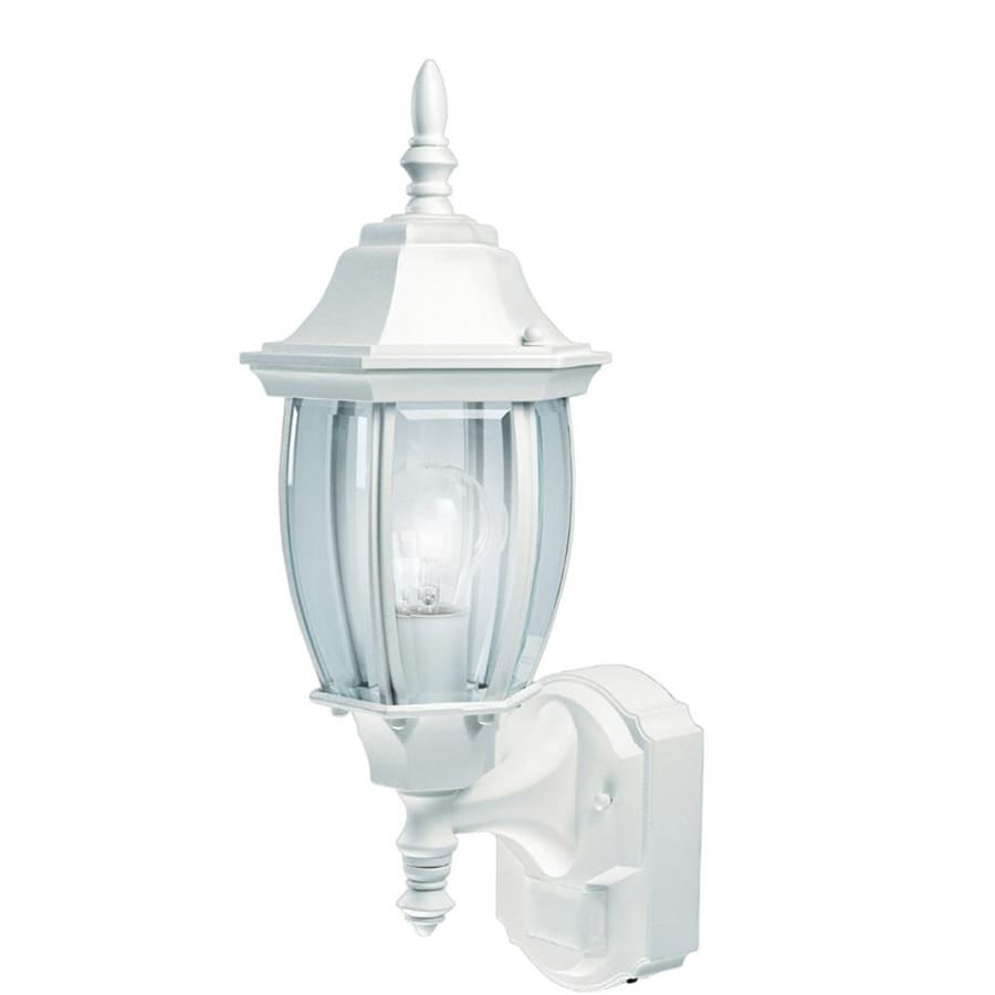 Secure Home Alexandria 18.5-in H White Motion Activated Outdoor Wall Light