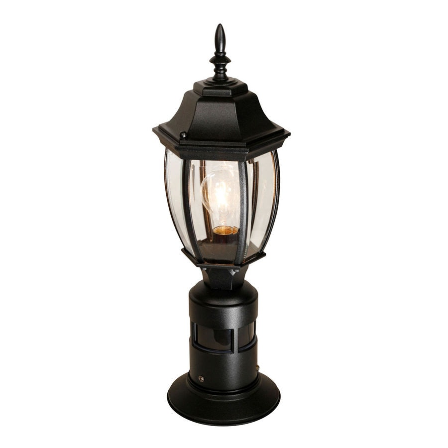 Secure Home 20.5-in H Black Post Light