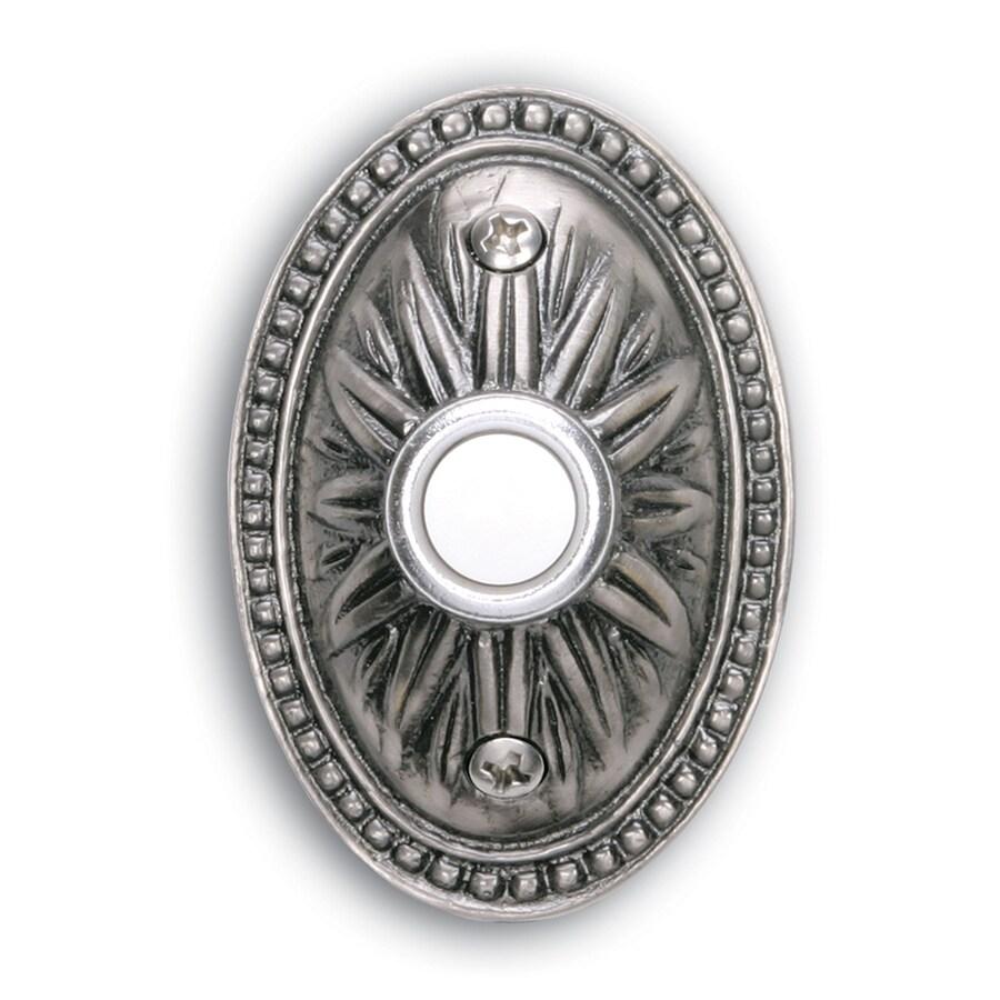 Heath Zenith Antique Pewter Doorbell Button