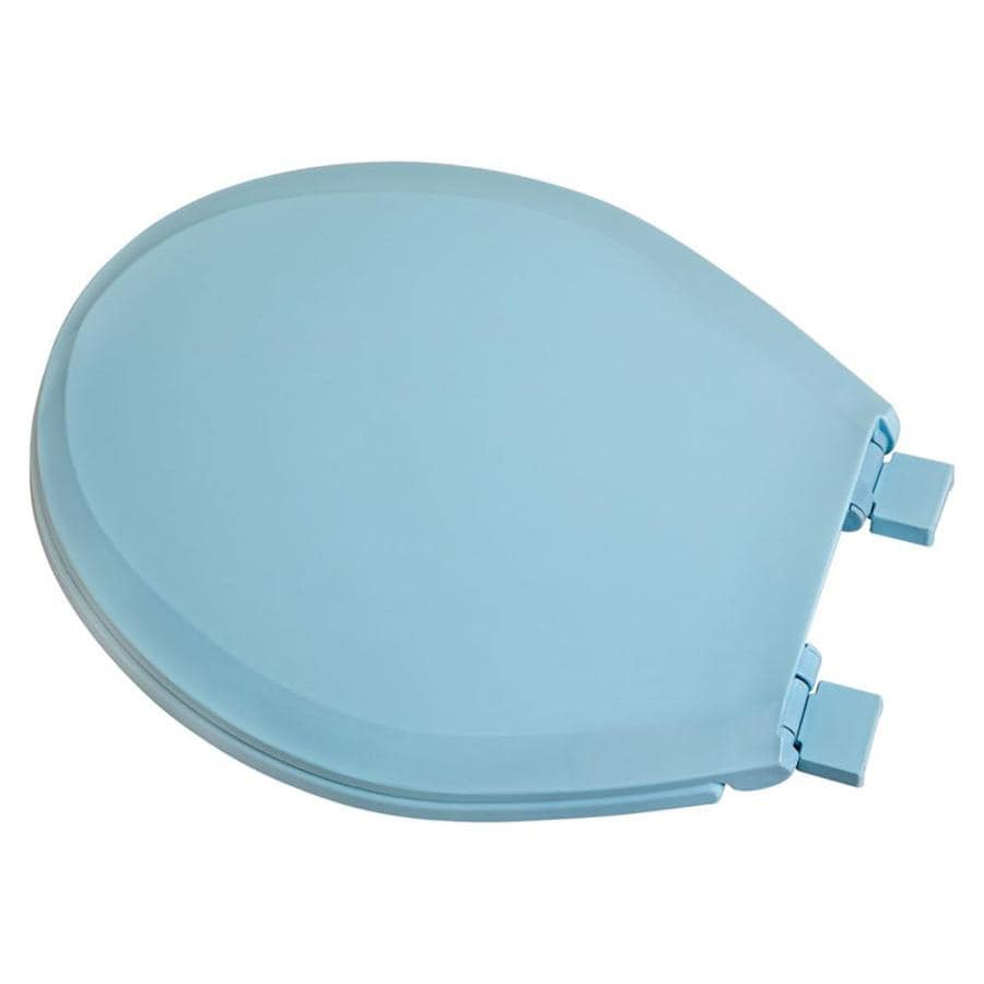 Centoco Blue Plastic Round Slow Close Toilet Seat