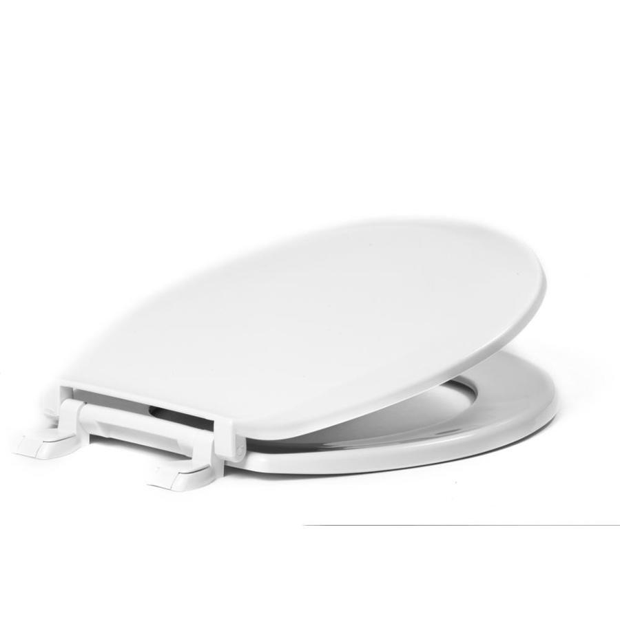 Centoco White Plastic Round Toilet Seat