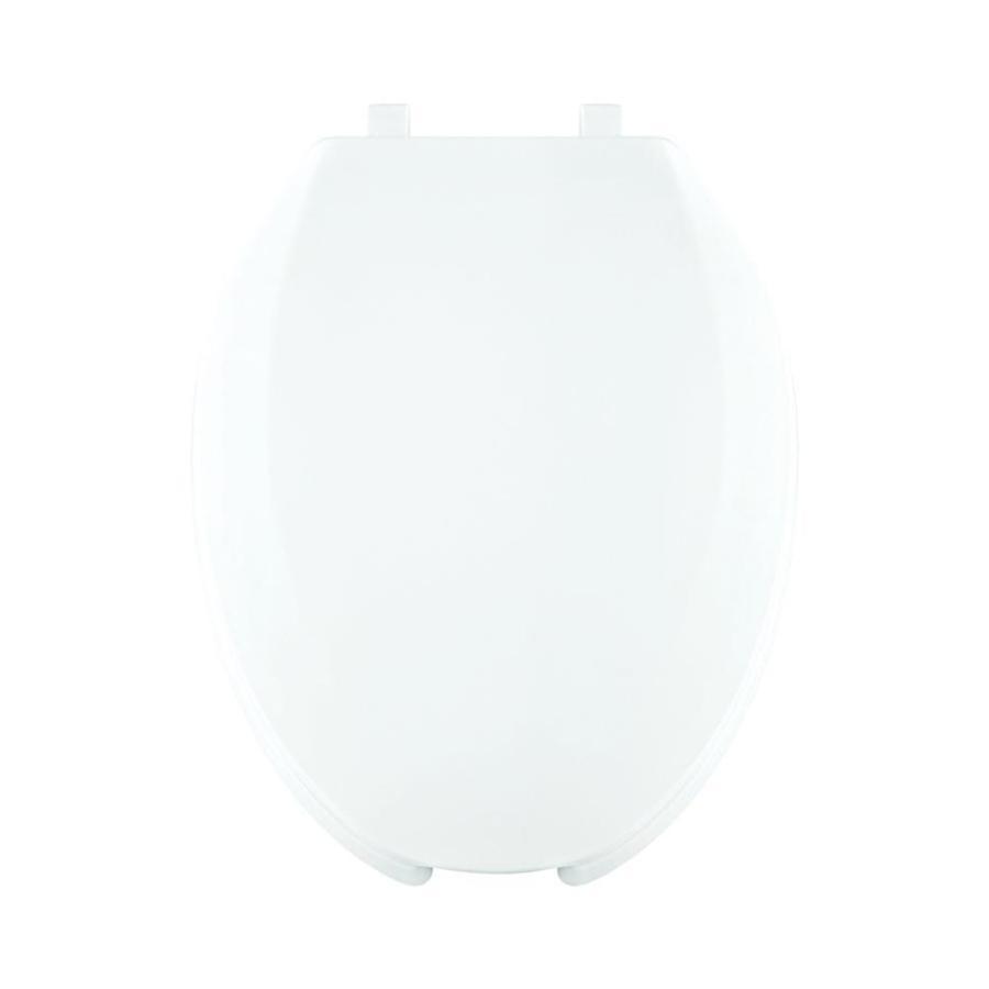Centoco White Plastic Elongated Toilet Seat