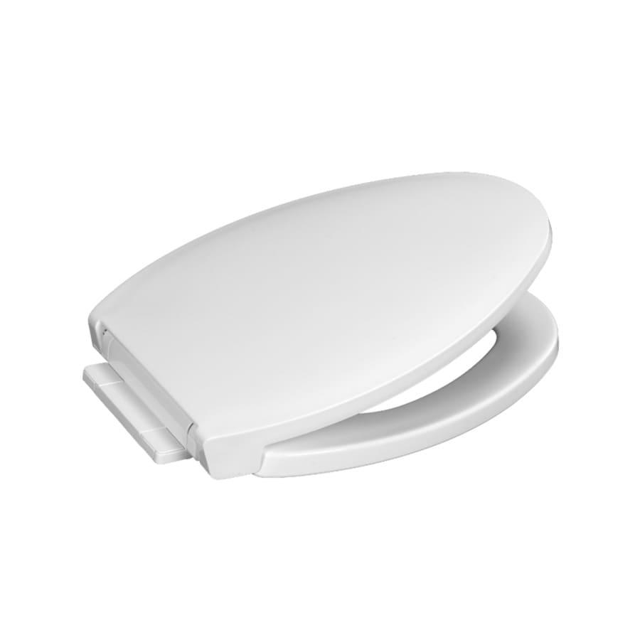 Centoco White Plastic Elongated Slow Close Toilet Seat