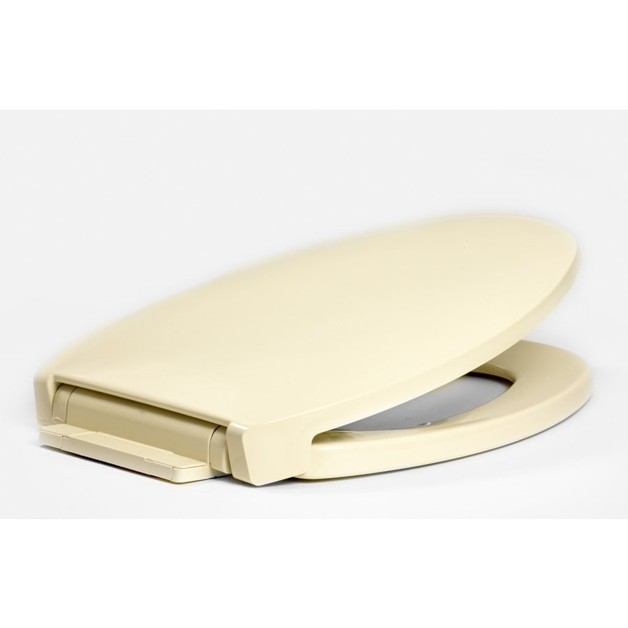 Centoco Biscuit/Linen Plastic Elongated Slow Close Toilet Seat