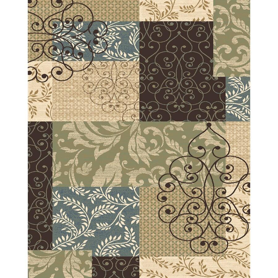 Balta Kirman 94-in x 120-in Rectangular Brown/Tan Transitional Area Rug