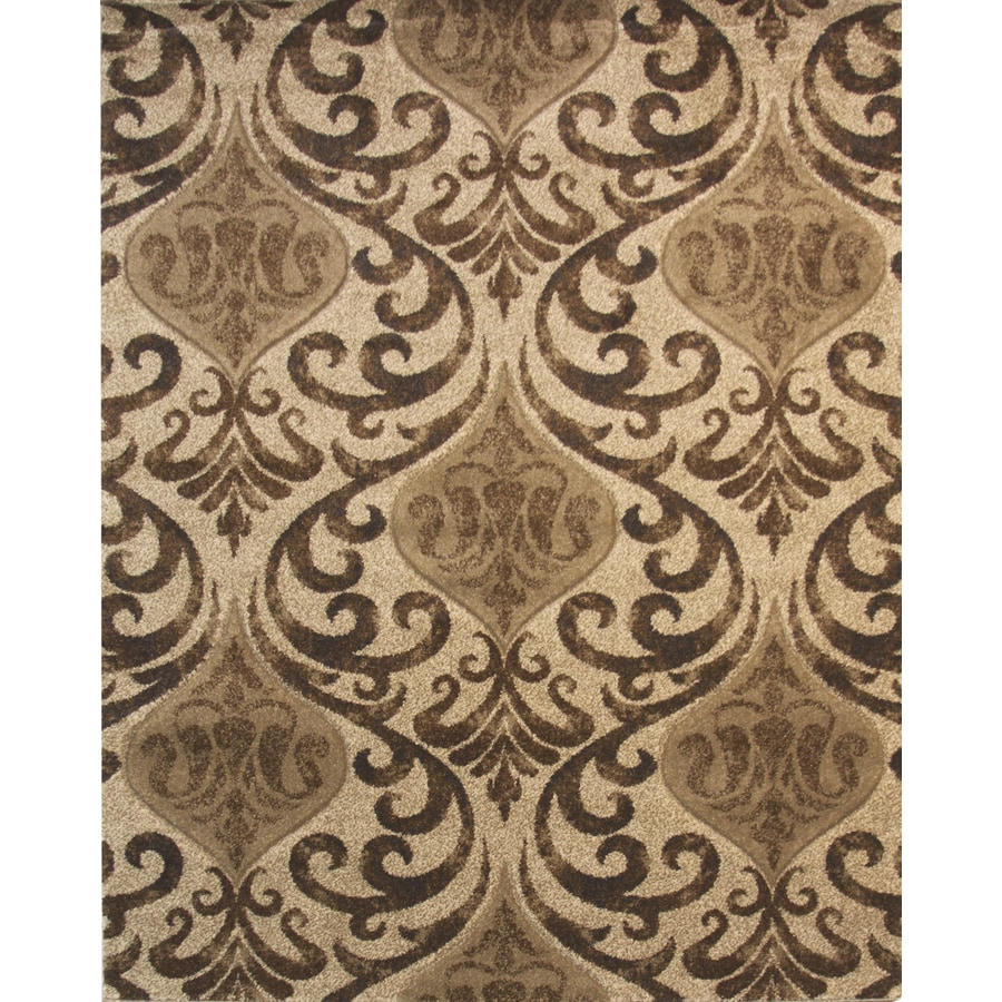 Balta Manchester Brown Linnen Rectangular Indoor Machine-Made Area Rug (Common: 8 x 10; Actual: 94-in W x 120-in L)