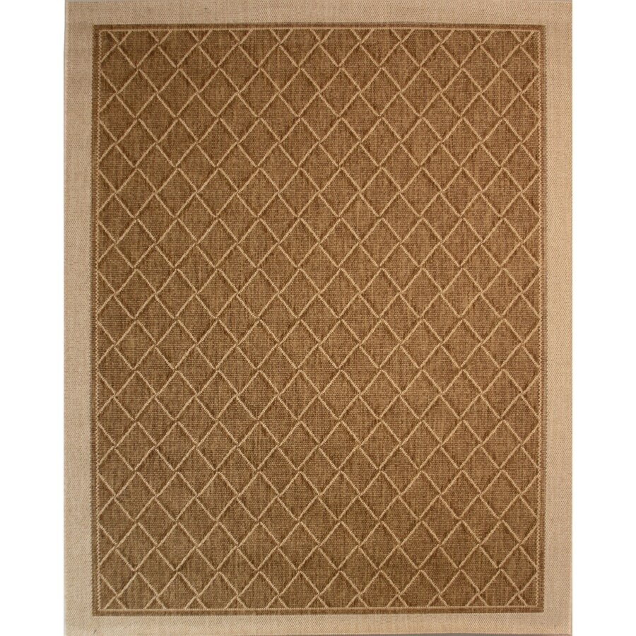Society Page Grain Rectangular Indoor/Outdoor Machine-Made Area Rug (Common: 8 x 10; Actual: 94-in W x 120-in L)