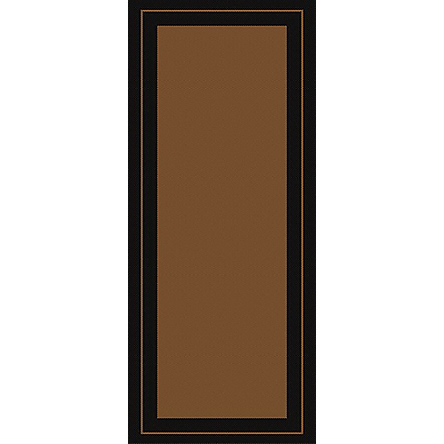New Haven Havanah and Black Rectangular Indoor/Outdoor Machine-Made Throw Rug (Common: 2 x 5; Actual: 24-in W x 59-in L)