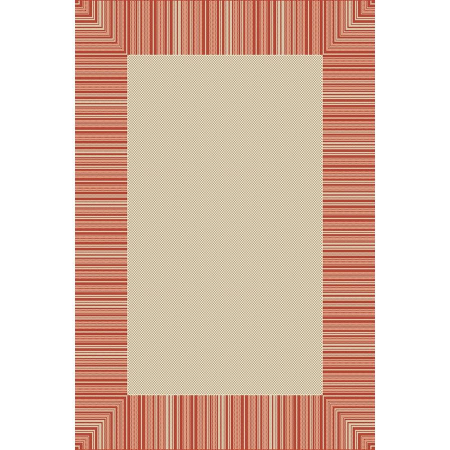 Essenza 78-in x 114-in Rectangular Cream/Beige/Almond Border Indoor/Outdoor Area Rug