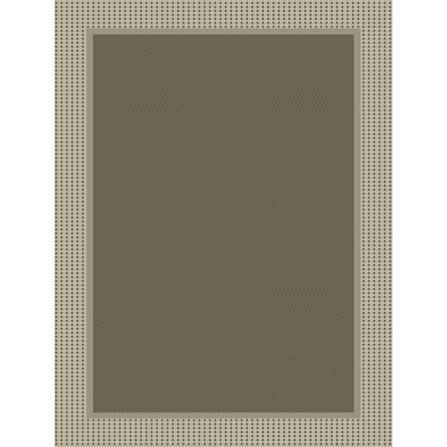 Dorsay 5-ft 3-in x 7-ft 6-in Rectangular Gray Border Indoor/Outdoor Area Rug