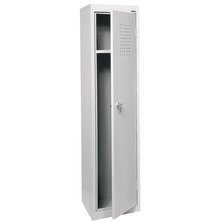 edsal 15-in W x 66-in H x 18-in D Dove Gray Steel Storage Locker