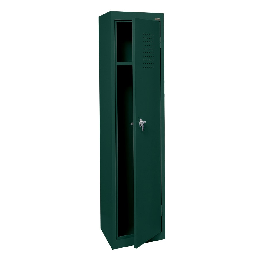 edsal 15-in W x 66-in H x 18-in D Green Steel Storage Locker