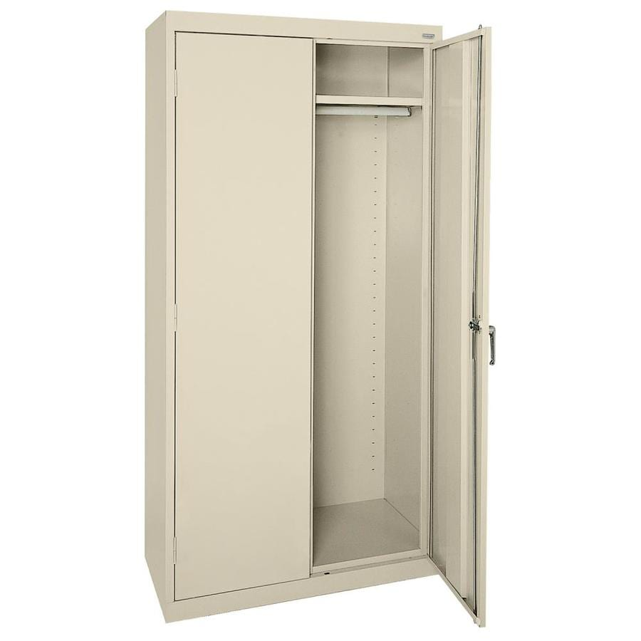 Shop edsal 36 in w x 72 in h x 24 in d steel freestanding for Garage cabinets
