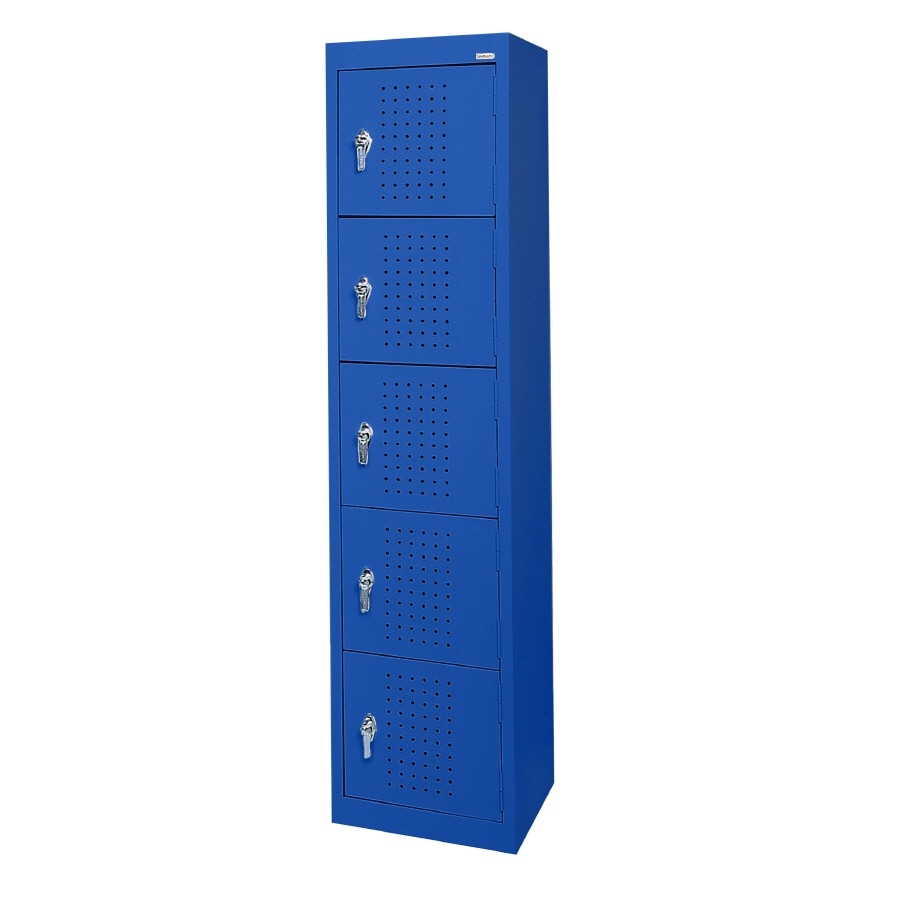 edsal 15-in W x 66-in H x 18-in D Blue Steel Storage Locker