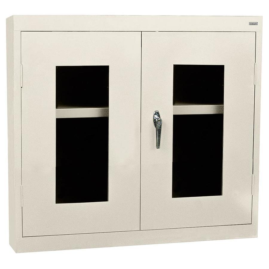 shop edsal 30 in w x 26 in h x 12 in d steel wall mount garage cabinet at. Black Bedroom Furniture Sets. Home Design Ideas
