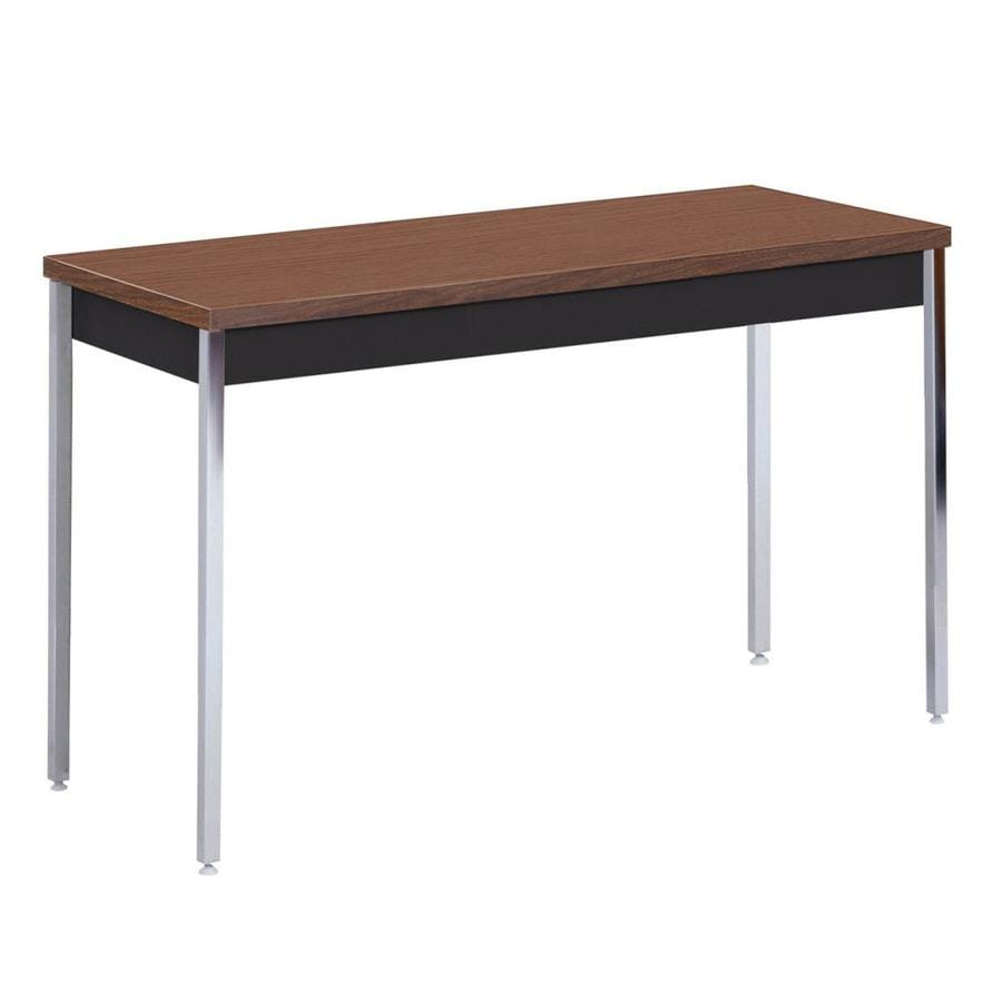 Shop Edsal Black Walnut Composite Rectangular Coffee Table At